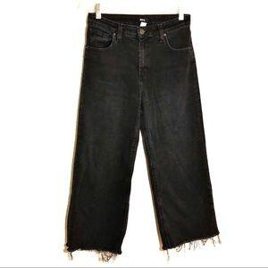 BDG Cropped Wide Leg Black Jeans